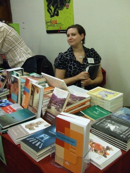 Managing Editor Diane Goettel at the 21st Annual Indie & Small Press Book Fair in New York City